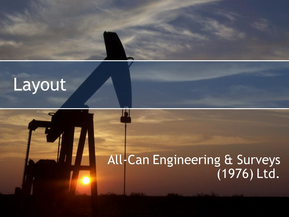 Layout All-Can Engineering & Surveys (1976) Ltd.