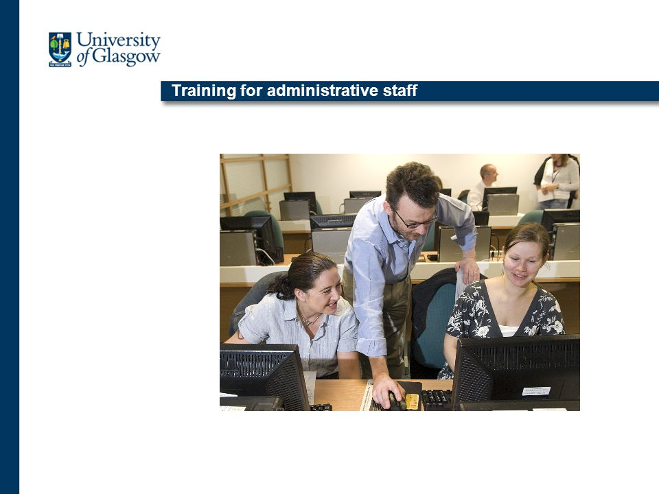 Training for administrative staff
