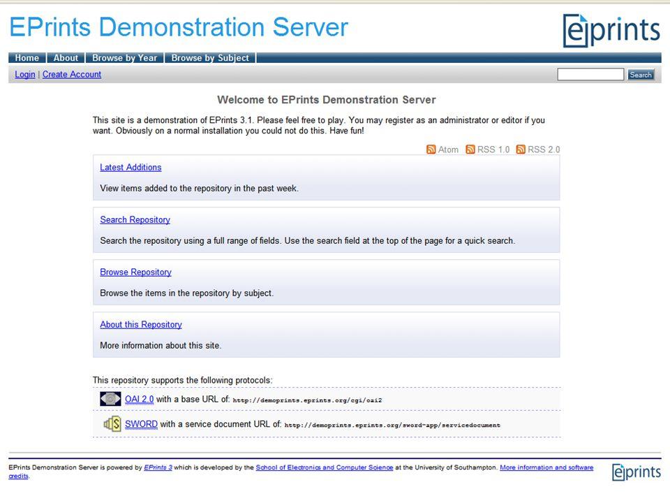 EPrints Demo Server
