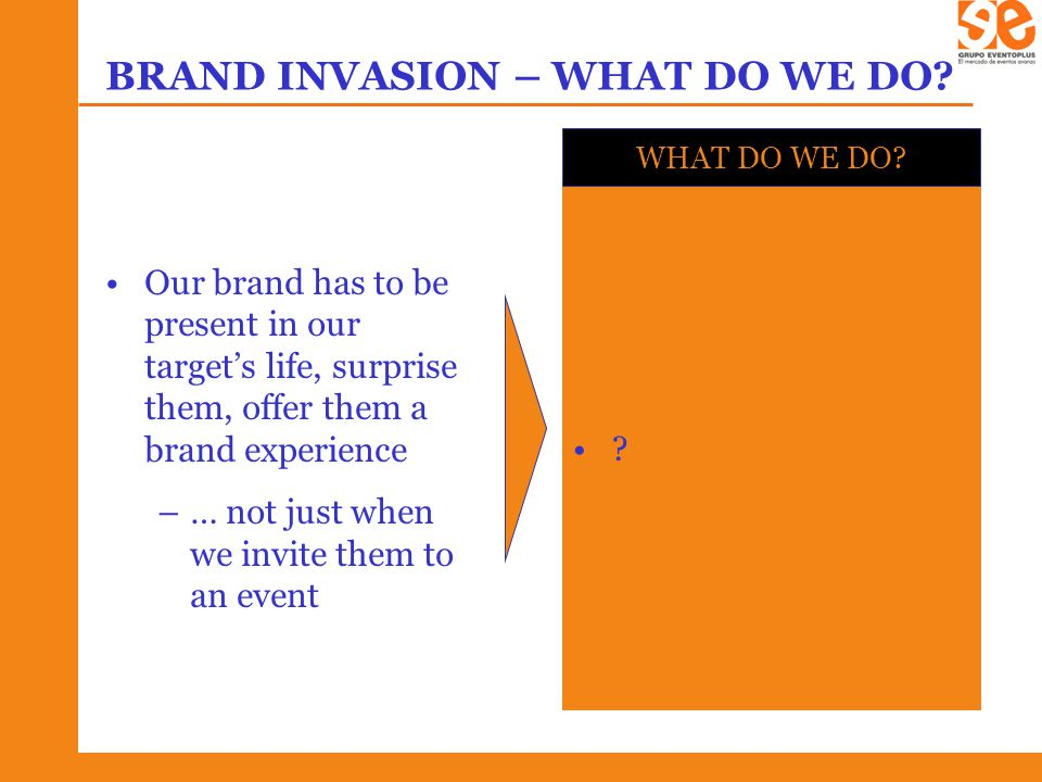 BRAND INVASION – WHAT DO WE DO.