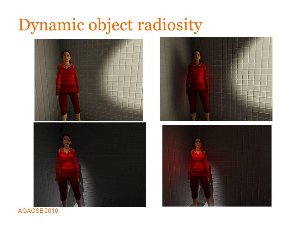 Dynamic object radiosity AGACSE 2010
