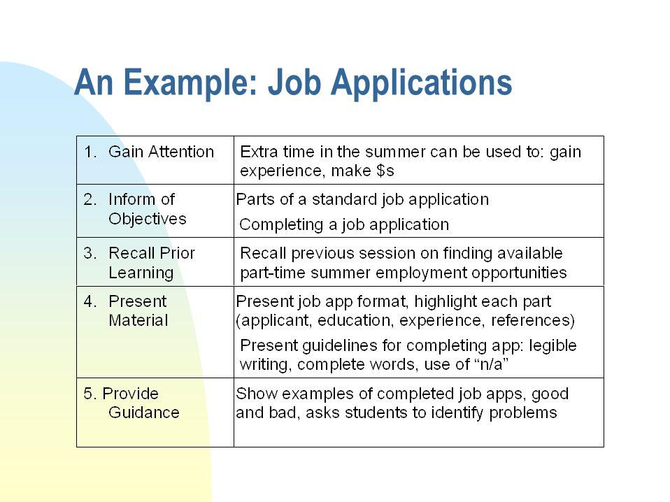 An Example: Job Applications