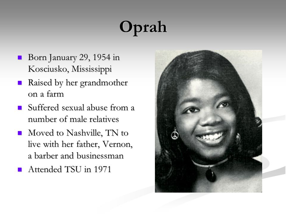 An Early Journalist At the age of 17, began working at WVOL radio in Nashville At the age of 17, began working at WVOL radio in Nashville At 19 years old, she became youngest person and 1 st African-American woman to anchor the news at WTVF- TV At 19 years old, she became youngest person and 1 st African-American woman to anchor the news at WTVF- TV Co-anchor the Six O-Clock News in Baltimore Co-anchor the Six O-Clock News in Baltimore Co-host of local talk show, People Are Talking Co-host of local talk show, People Are Talking