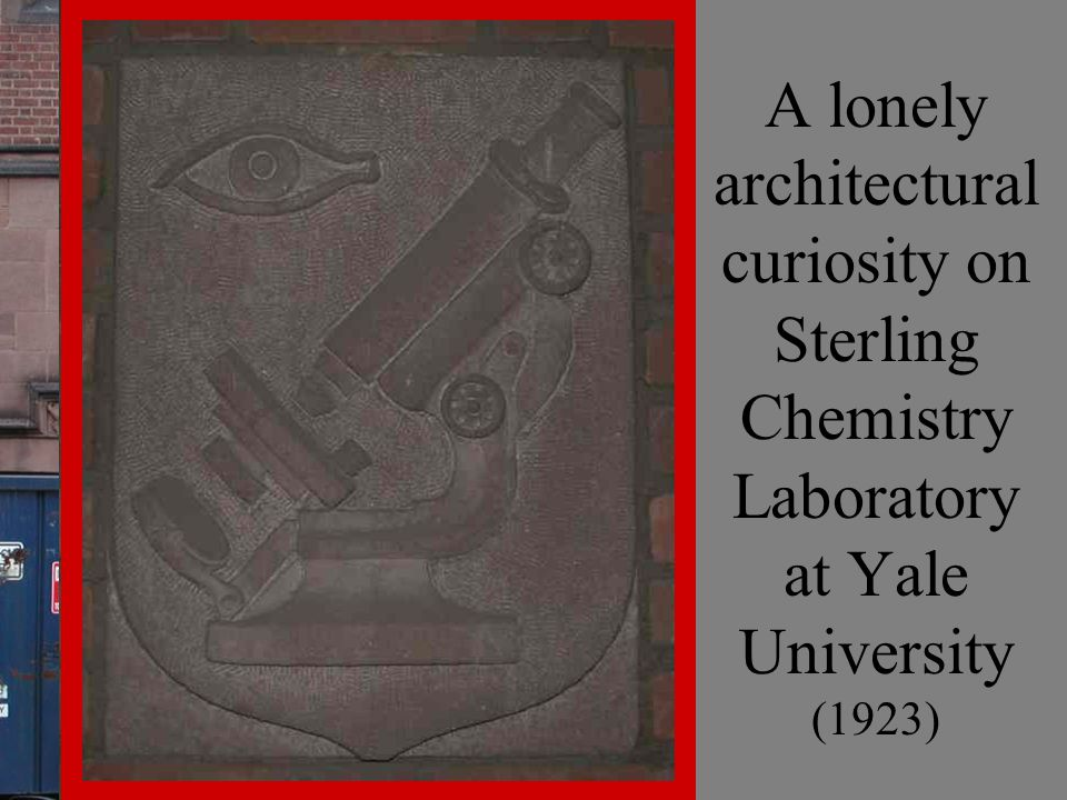 A lonely architectural curiosity on Sterling Chemistry Laboratory at Yale University (1923)