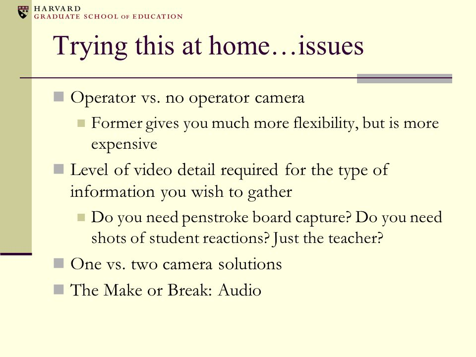 Trying this at home…issues Operator vs.