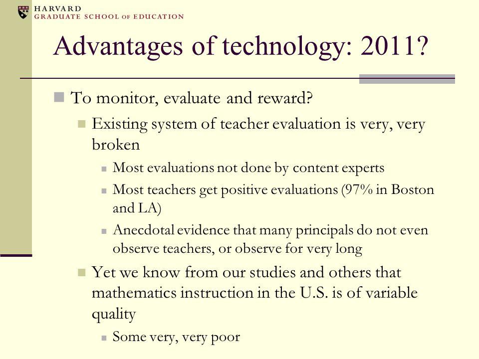 Advantages of technology: 2011.