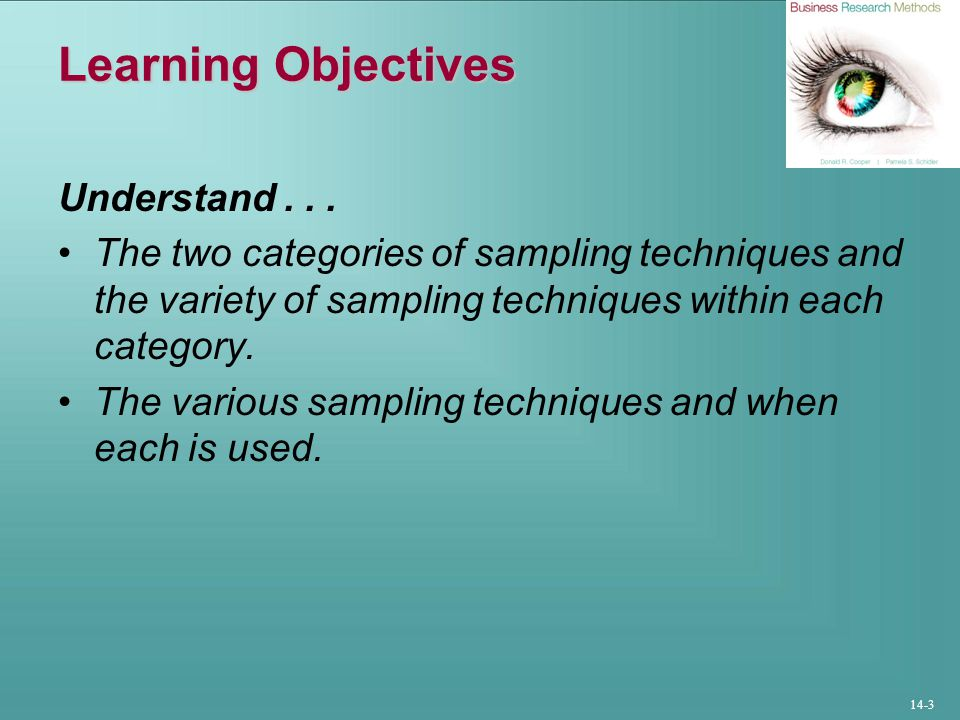 14-3 Learning Objectives Understand...