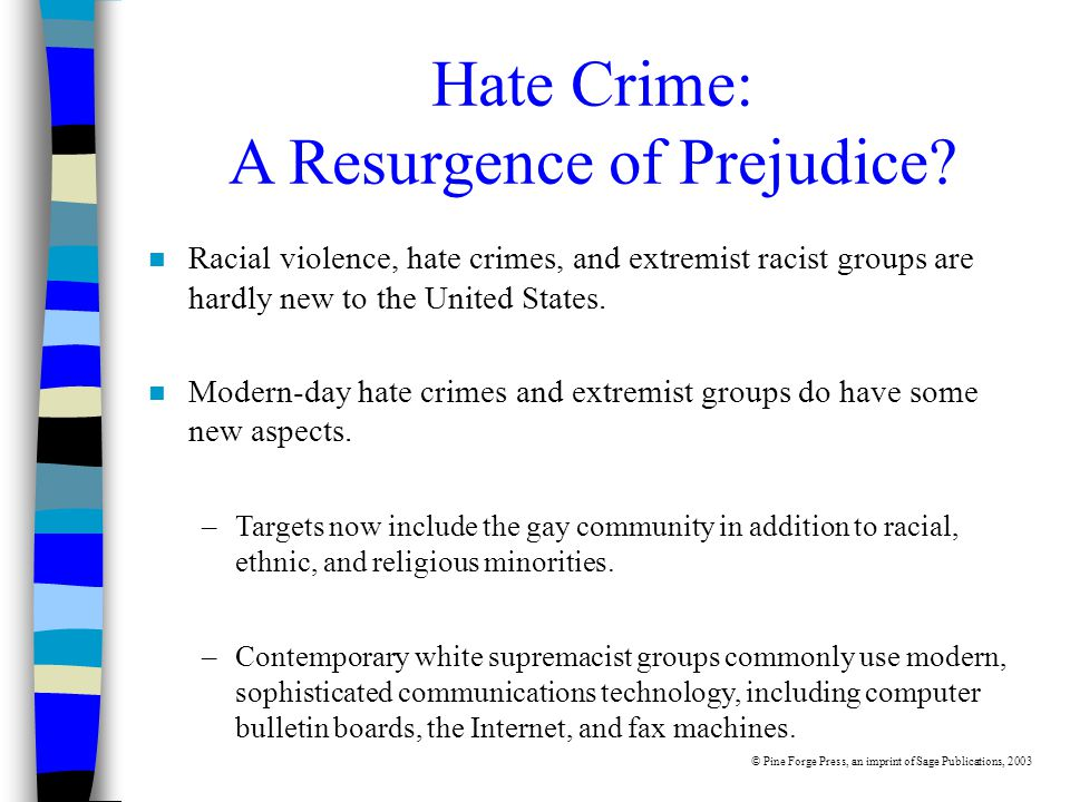 Hate Crime: A Resurgence of Prejudice.