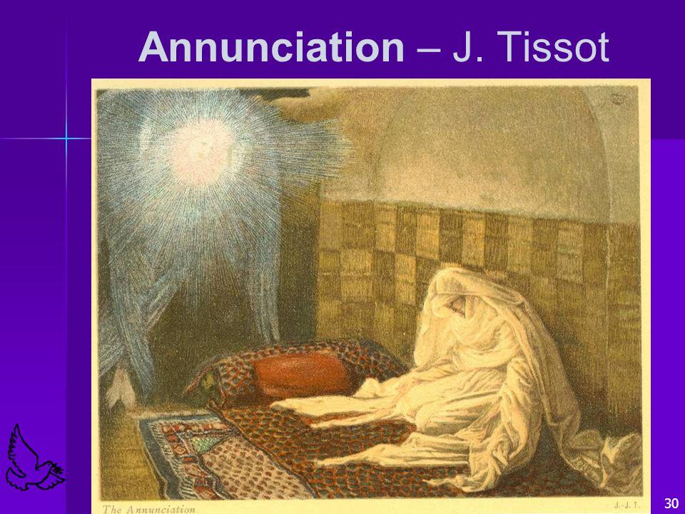 30 Annunciation – J. Tissot