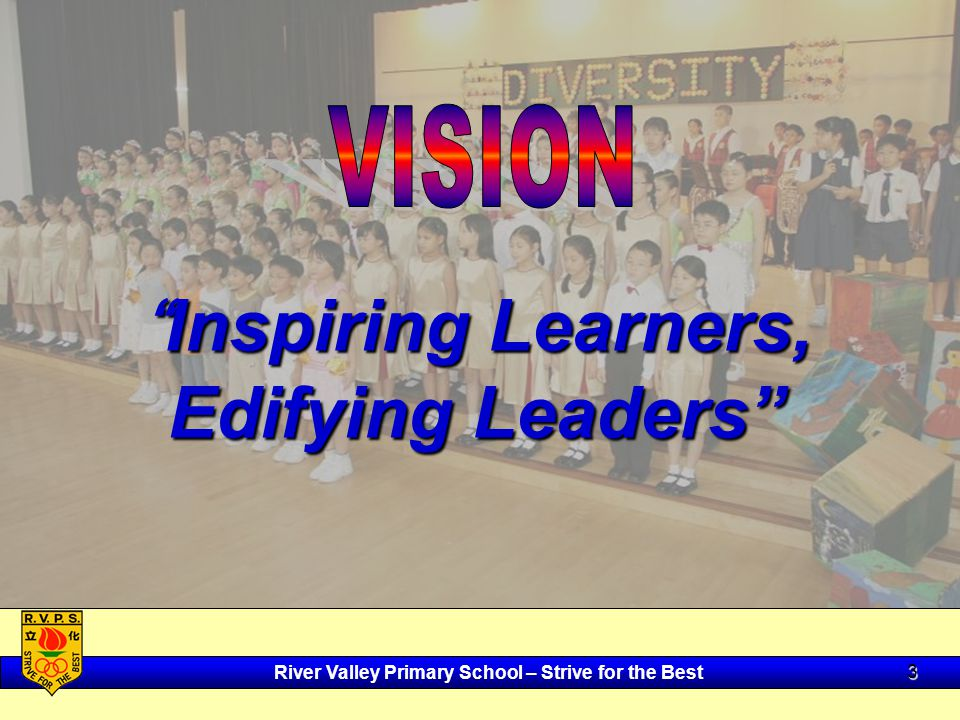 River Valley Primary School – Strive for the Best 3 Inspiring Learners, Edifying Leaders