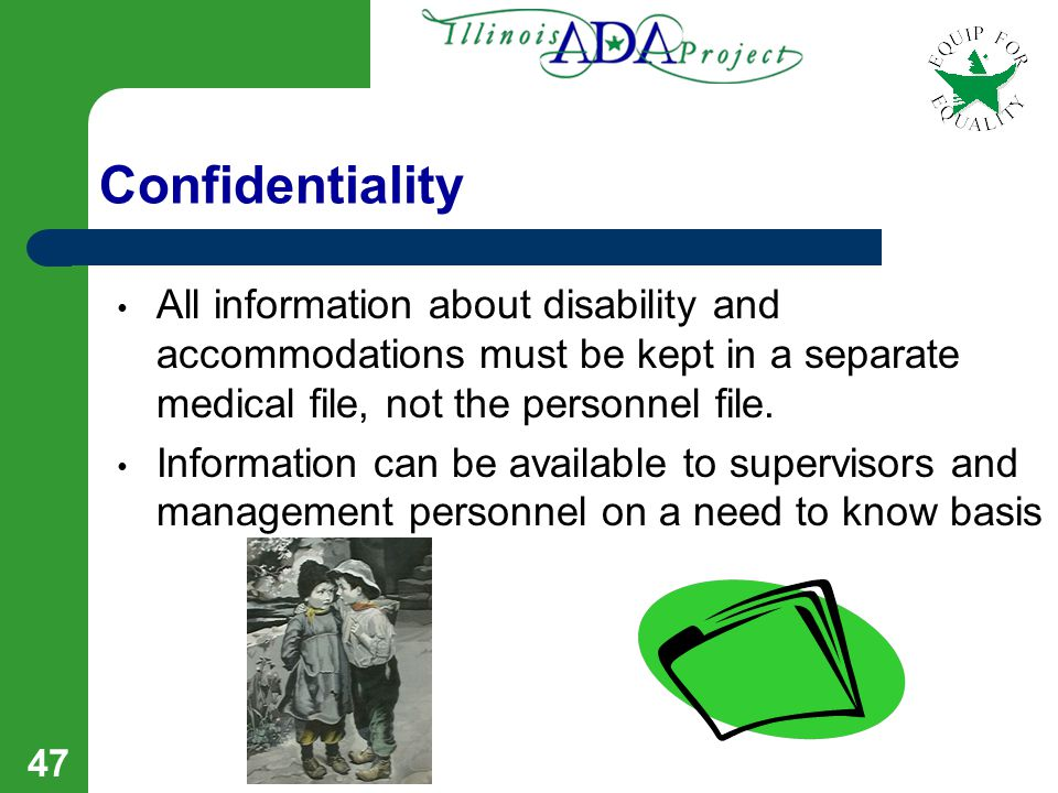46 FMLA – ADA Interplay As a Reasonable Accommodation under the ADA, FMLA Leave may be: Extended beyond 12 weeks Given to an employee who is otherwise
