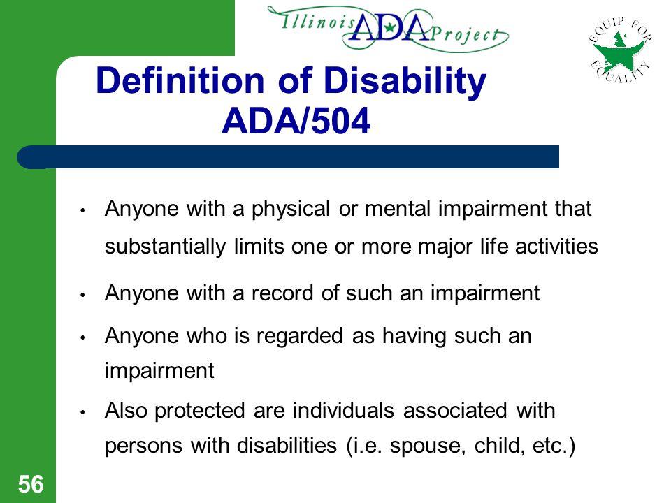 55 ADA Section 504 IDEA