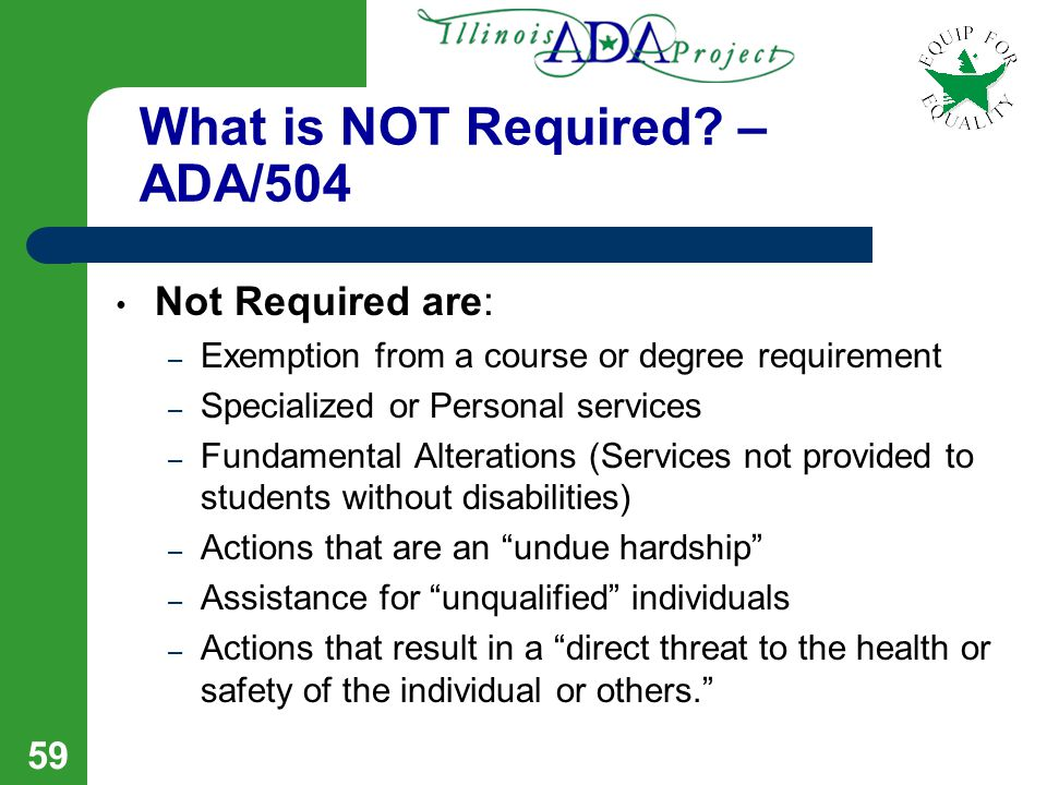 58 What is Required.