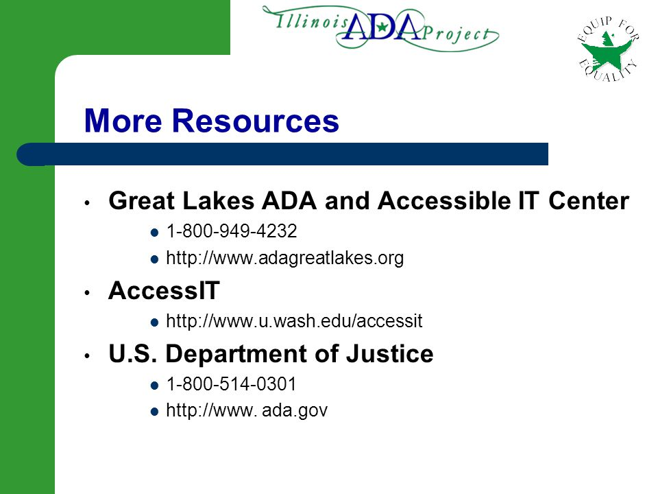 87 Resources for More Information National Dissemination Center for Children with Disabilities (NICHCY) – 800-695-0285 – www.nichcy.org U.S.