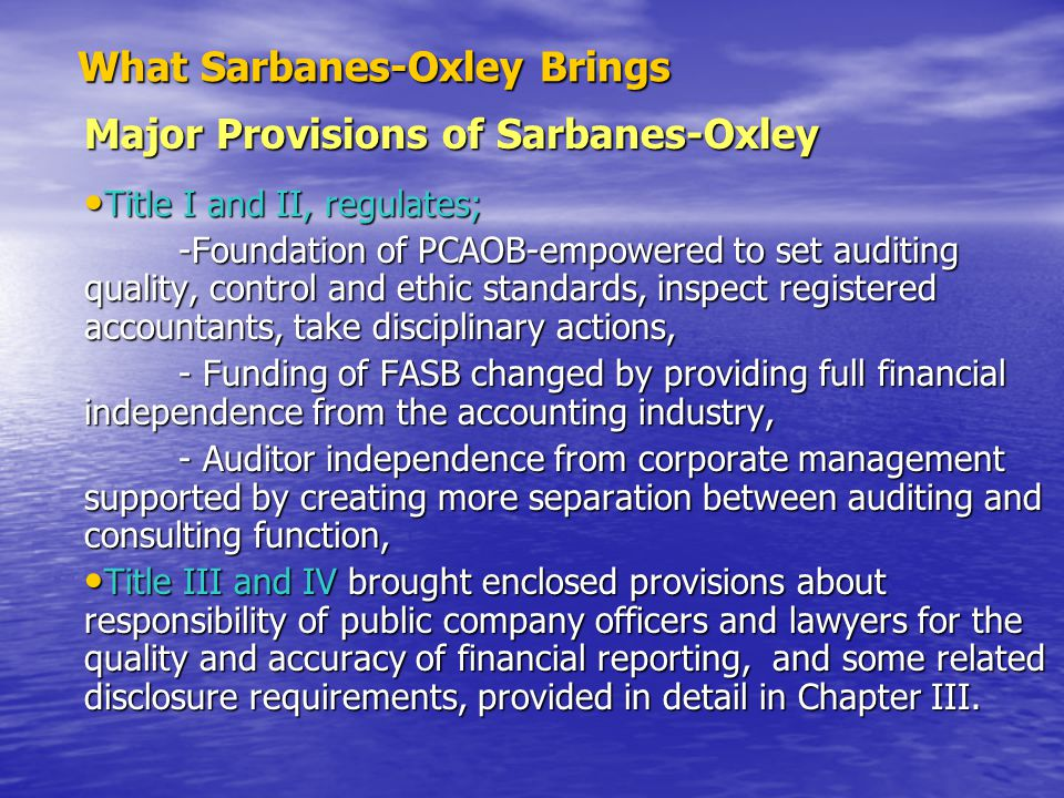 Regulations of Sarbanes-Oxley Affecting Corporate Responsibility and Its Disclosure Management Assessment of Internal Control SEC.