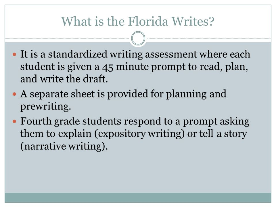 What is the Florida Writes.
