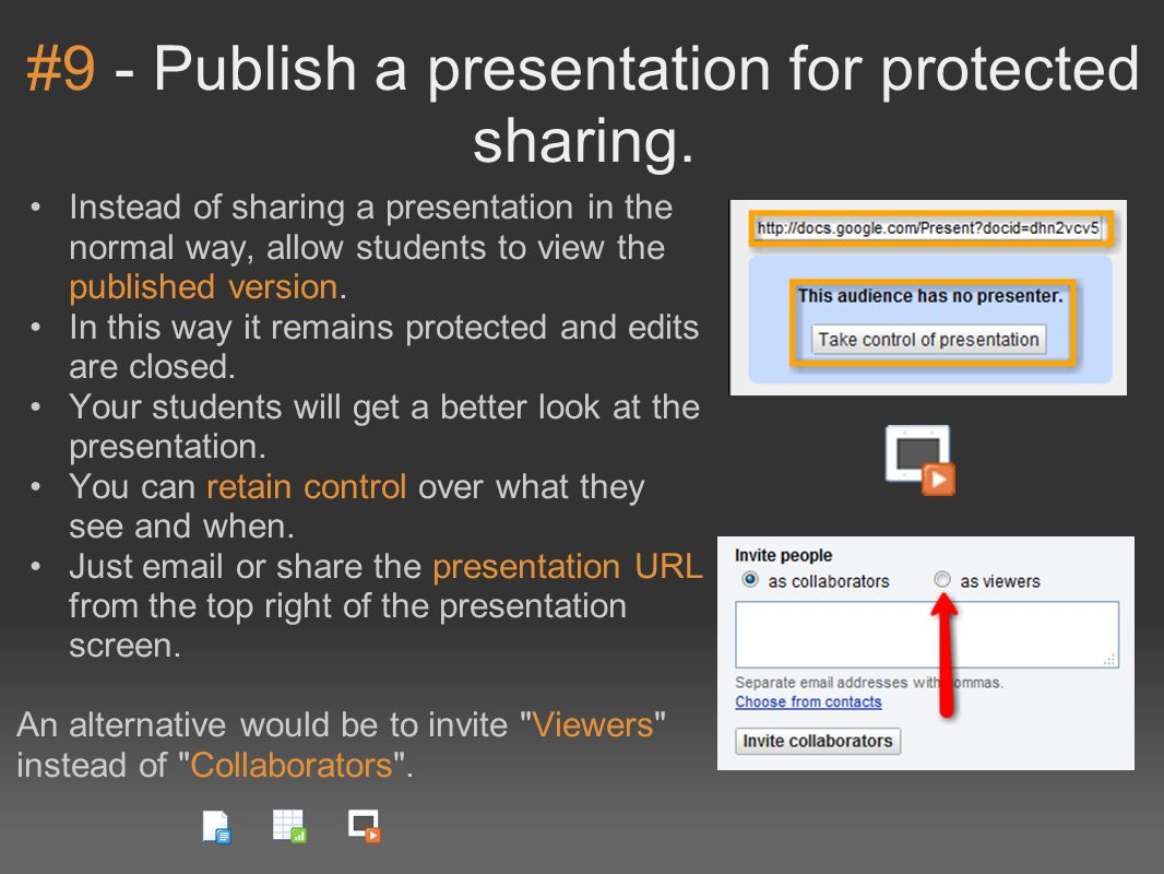 #9 - Publish a presentation for protected sharing.