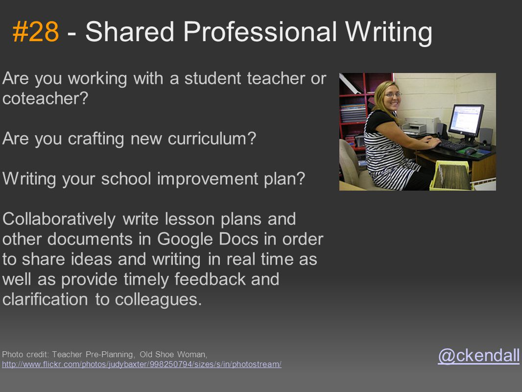 #28 - Shared Professional Writing Are you working with a student teacher or coteacher? Are you crafting new curriculum? Writing your school improvemen