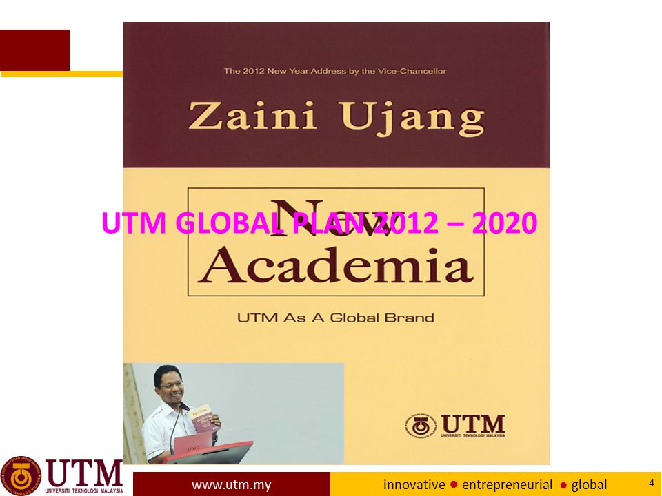 www.utm.my innovative ● entrepreneurial ● global 65 Concluding remarks Besides allocations for its academic staff to conduct R&D in their area of expertise, UTM also allocated a substantial amount of money for its academic staff to conduct R&D in teaching and learning.
