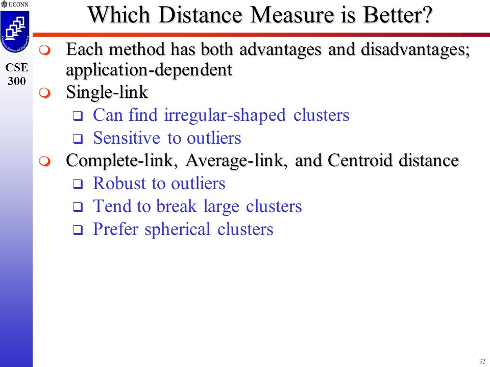 32 CSE 300 Which Distance Measure is Better.