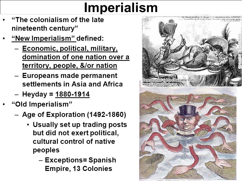 """Imperialism """"The colonialism of the late nineteenth century"""" """"New Imperialism"""" defined: –Economic, political, military, domination of one nation over"""