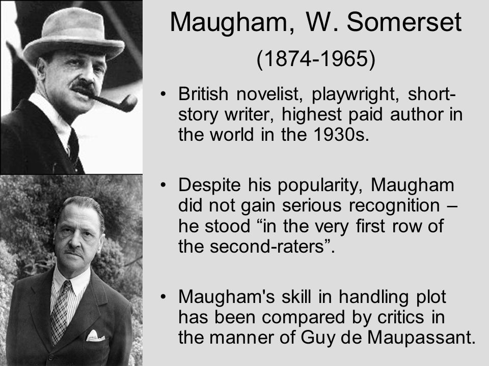 British novelist, playwright, short- story writer, highest paid author in the world in the 1930s.