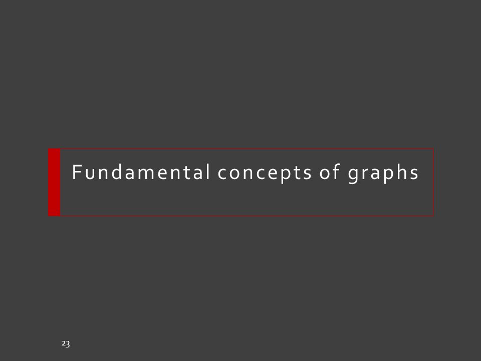 Fundamental concepts of graphs 23