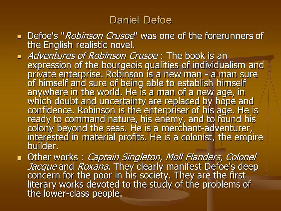Daniel Defoe Defoe's