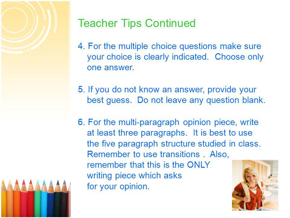 13 Teacher Tips Continued 4.