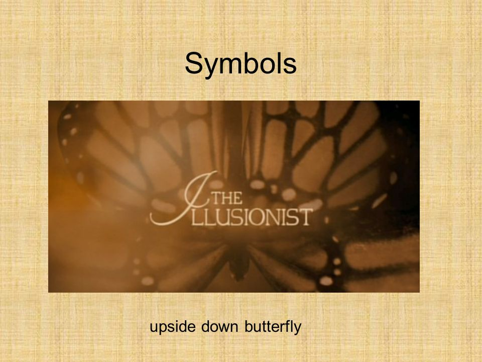 Symbols upside down butterfly