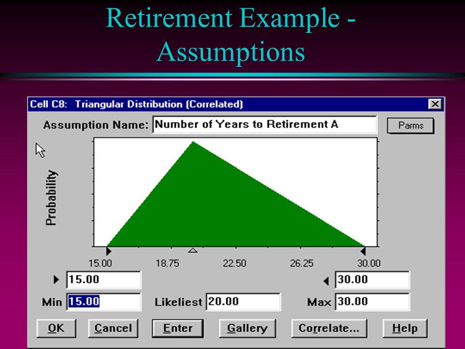 Retirement Example - Assumptions