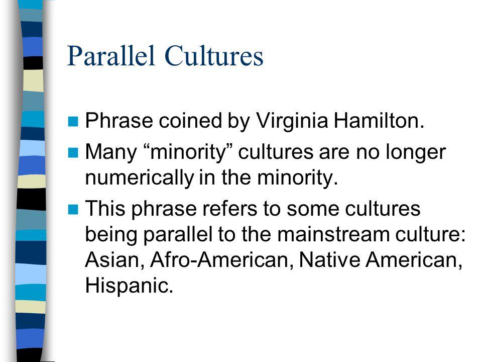 Parallel Cultures Phrase coined by Virginia Hamilton.