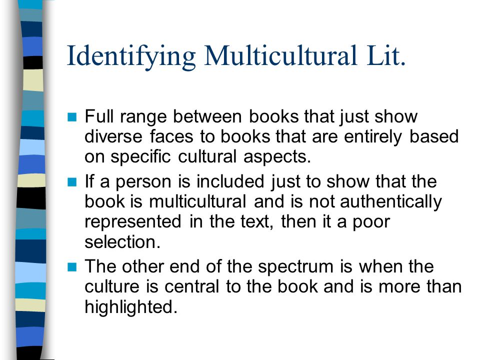 Identifying Multicultural Lit.