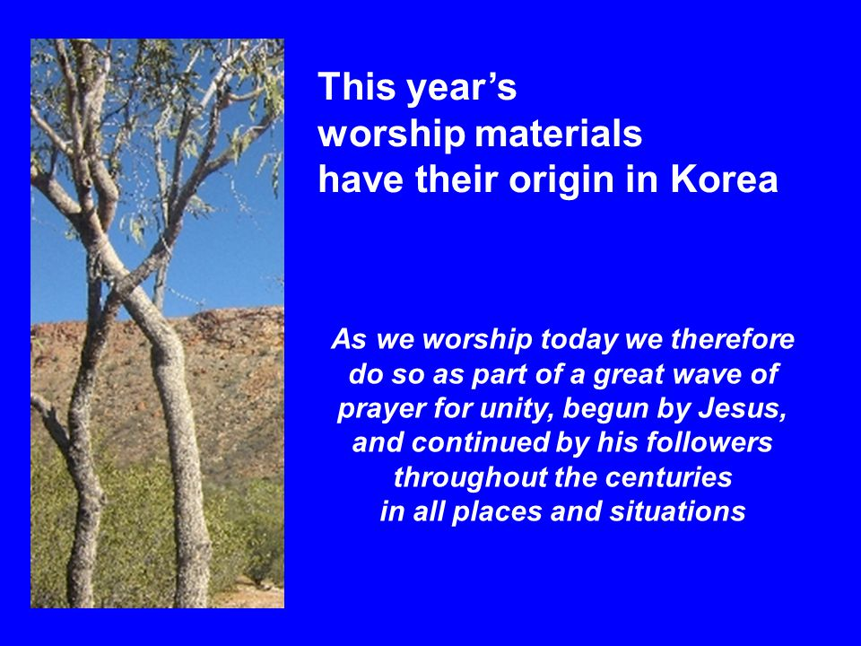 Prayers of Intercession Let us pray for all the nations and communities who live with deep divisions and internal conflicts, remembering especially the people of Korea, north and south Despite political divisions and separation, may their search for unity bear fruit