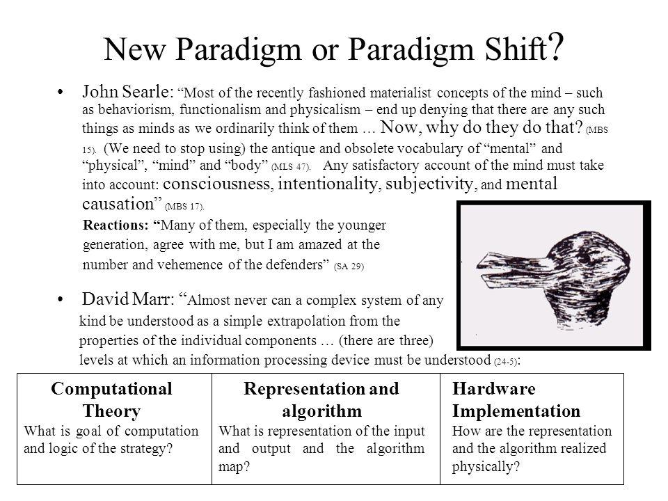 New Paradigm or Paradigm Shift .