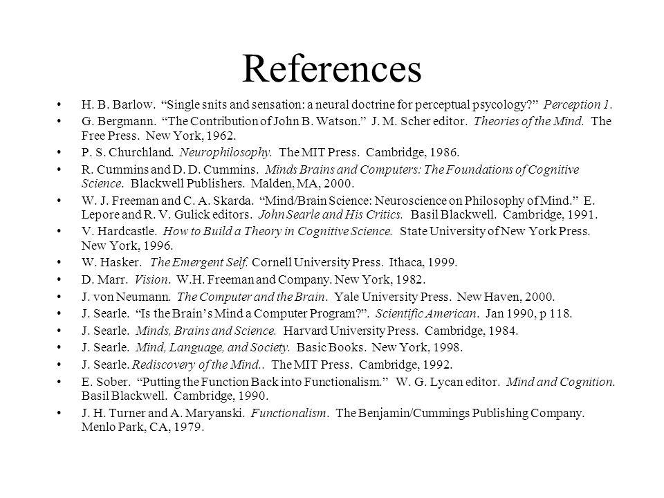 References H. B. Barlow.