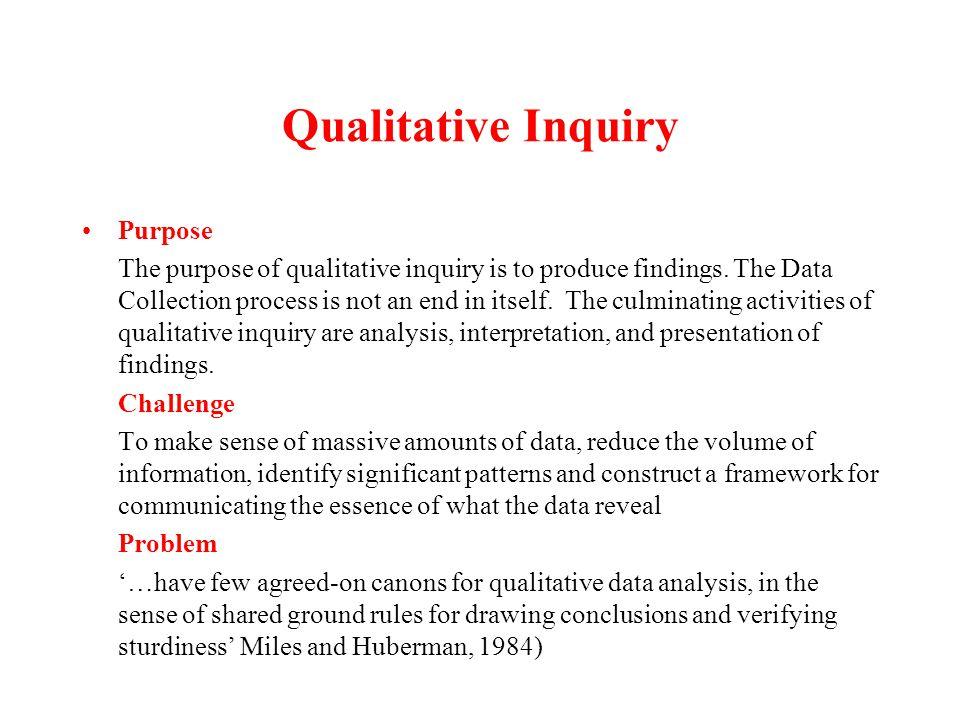 The Analysis Continuum Raw Data Descriptive Statements Interpretation