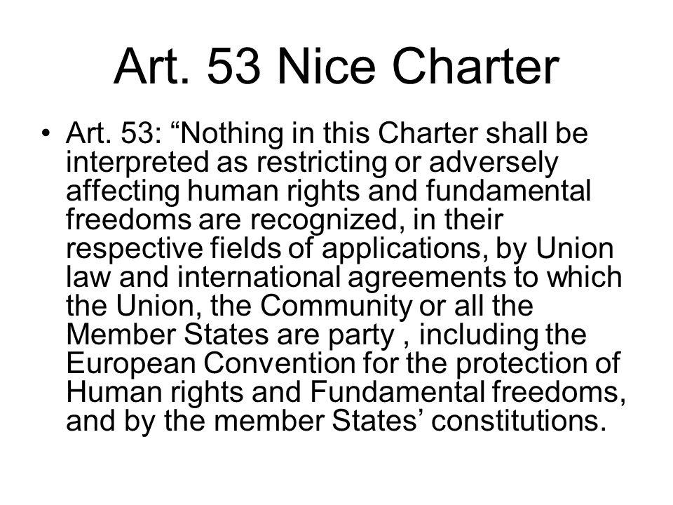 Art. 53 Nice Charter Art.