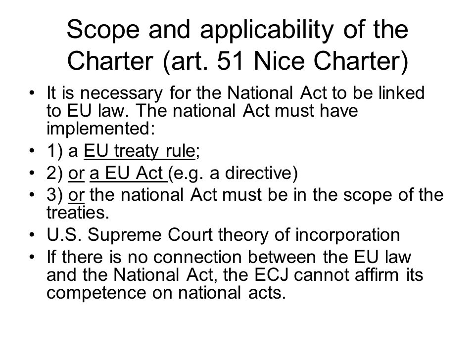 Scope and applicability of the Charter (art.