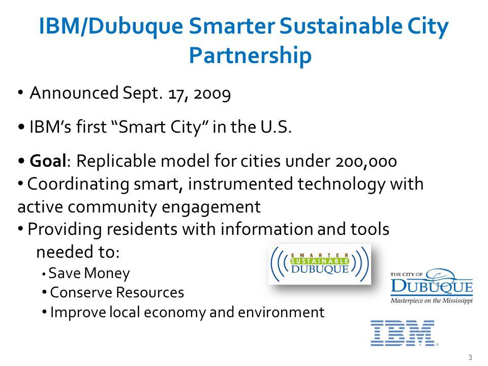 3 IBM/Dubuque Smarter Sustainable City Partnership Announced Sept.