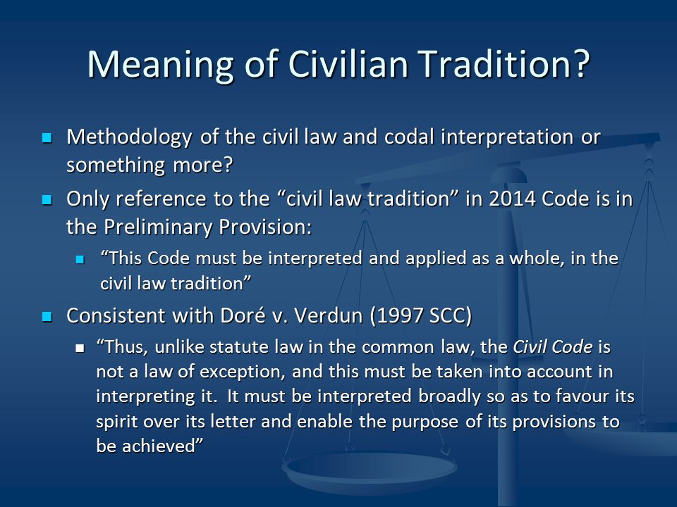 Meaning of Civilian Tradition.