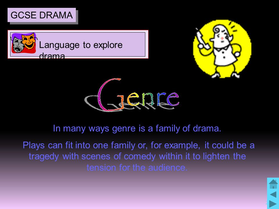 26 In many ways genre is a family of drama.