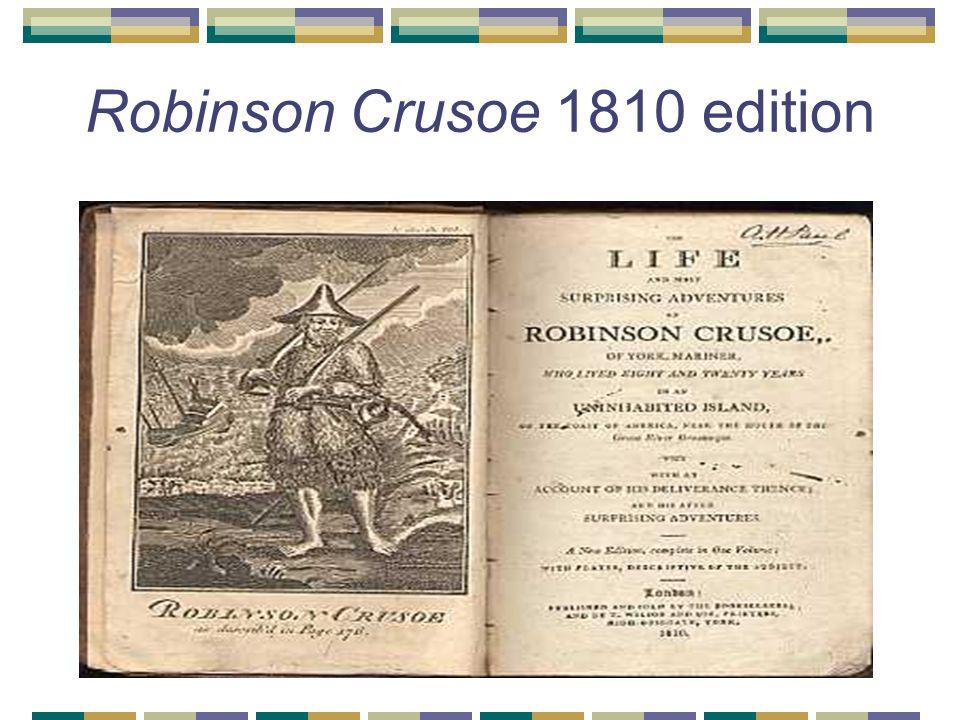 Robinson Crusoe 1810 edition