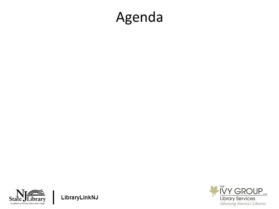 LibraryLinkNJ Agenda