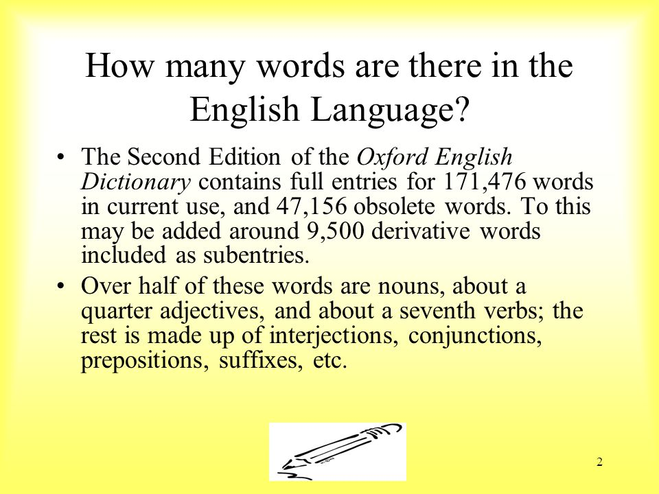 Susan Ebbers 20052 How many words are there in the English Language.