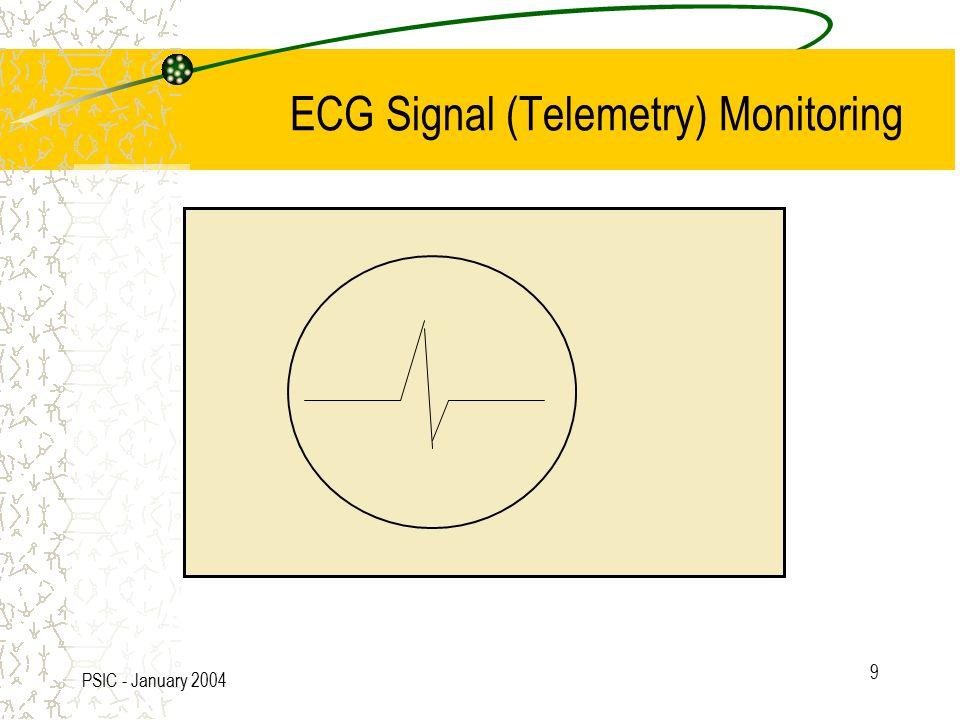 PSIC - January 2004 9 ECG Signal (Telemetry) Monitoring
