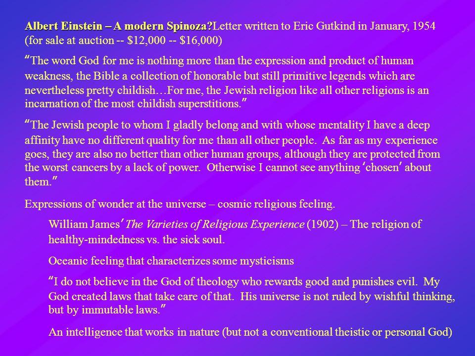 Albert Einstein – A modern Spinoza.