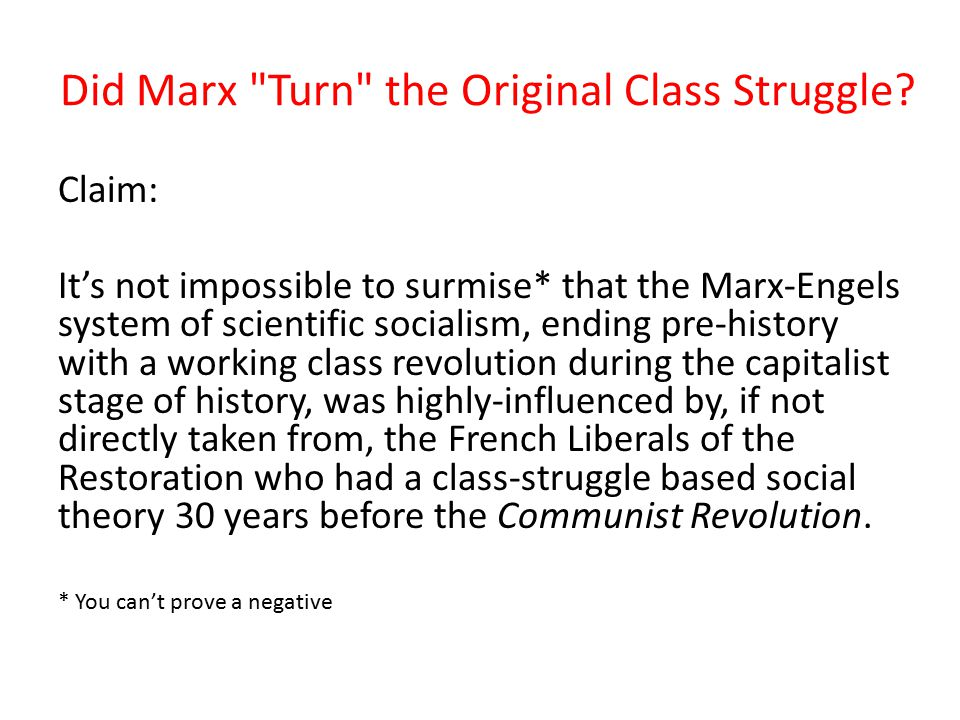 Did Marx Turn the Original Class Struggle? Evidence of Influence