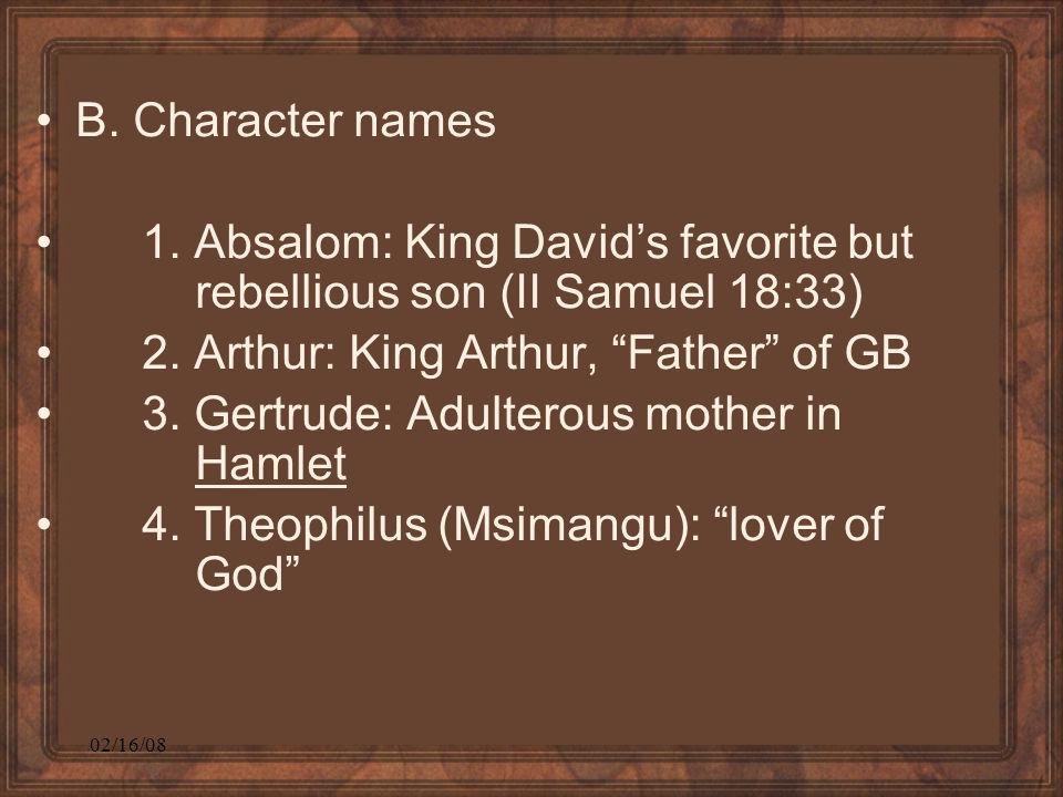 02/16/08 B. Character names 1.