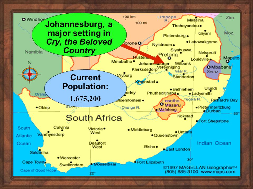 South Africa during Paton s Life 1910 - Formation of Union of South Africa by former British colonies of the Cape and Natal, and the Boer republics of Transvaal, and Orange Free State.